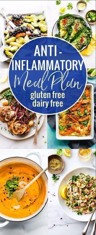 gluten free and dairy free anti-inflammatory meal plan! #healthy