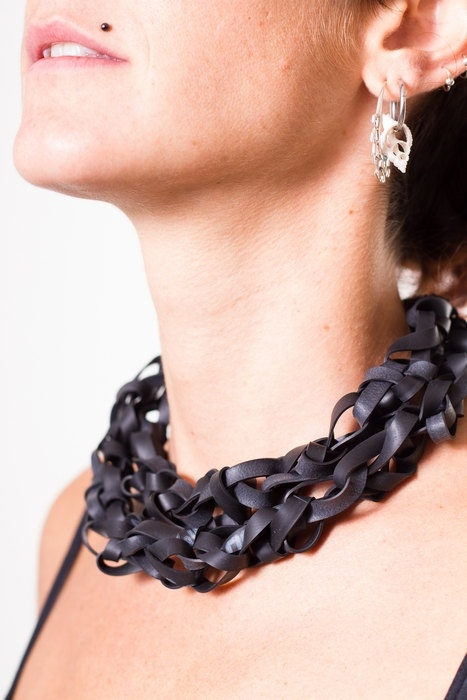 Mamé Recycled Bicycle Inner Tube Necklace by MorganaCrea on Etsy https://www.facebook.com/morgana.crea1