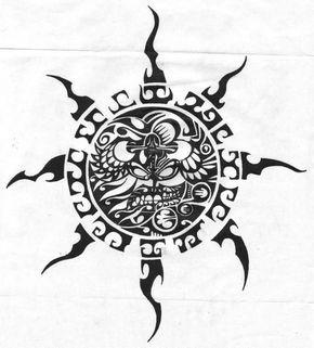 Traditional Aztec Tribal Tattoo Design – Truetattoos