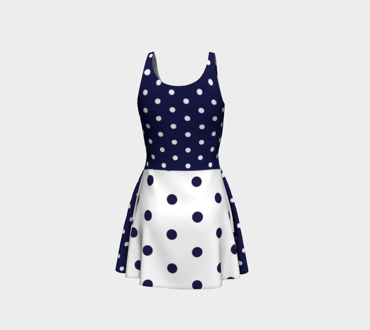 Navy dots preview #3