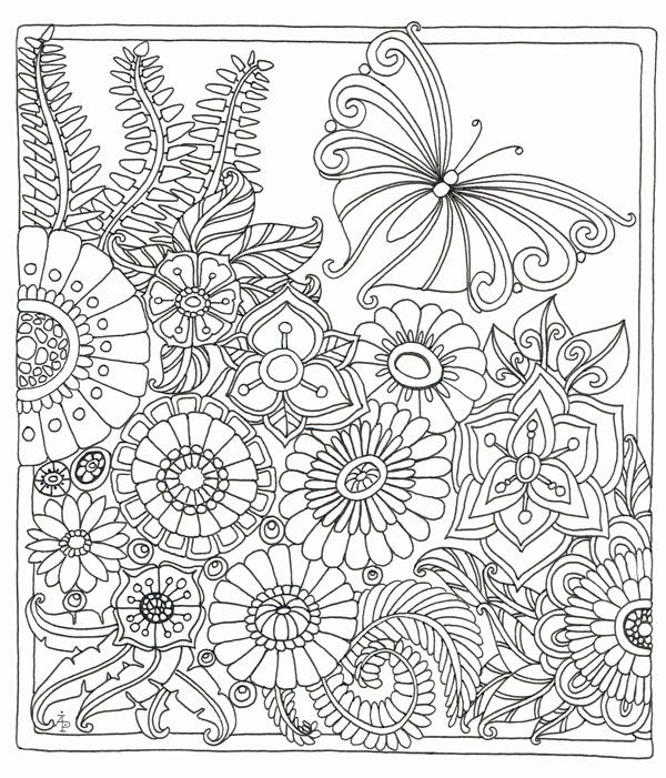 Zen Coloring Book For Adults Awesome A Serene Meadow Scene From Colour Me Happy A Zen Colouring Book From Lac Coloring Pages Butterfly Coloring Page Zen Colors