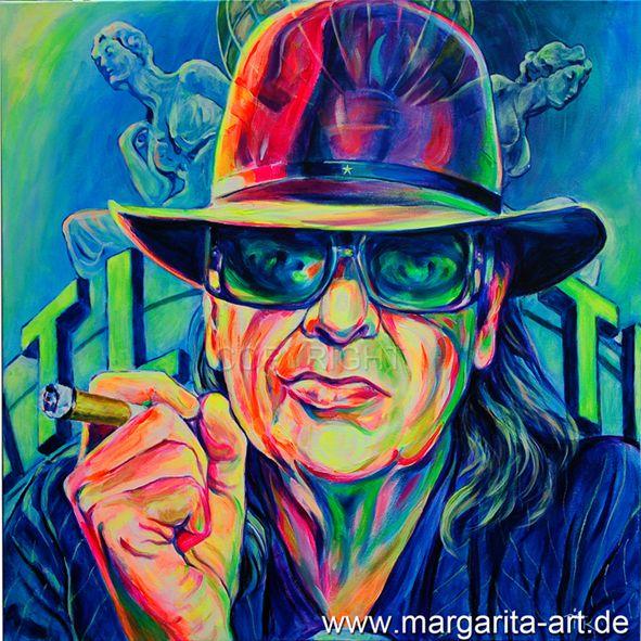 Gemälde Portrait Udo Lindenberg Leinwand Druck von Art & Design aus Hamburg auf DaWanda.com