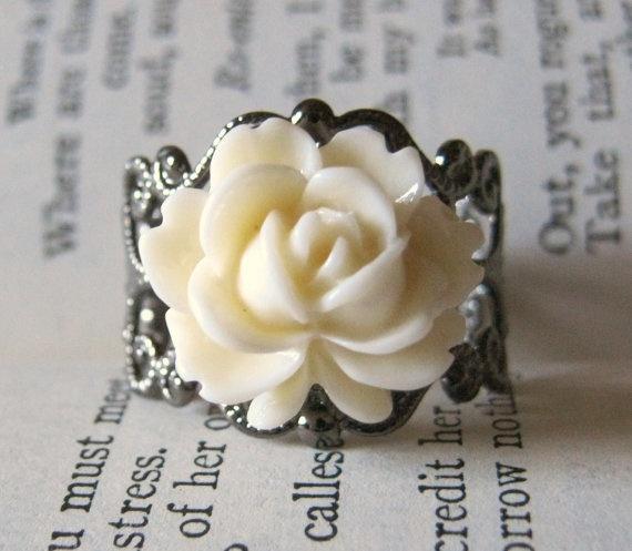 Tea Cup Rose Ring: Cute Rings, Filigree Rings, Creamtea Cups, Filigr Rings, Teas Cups, Love Rings, Cups Rose, Rose Rings Adorable, Sweet Rings