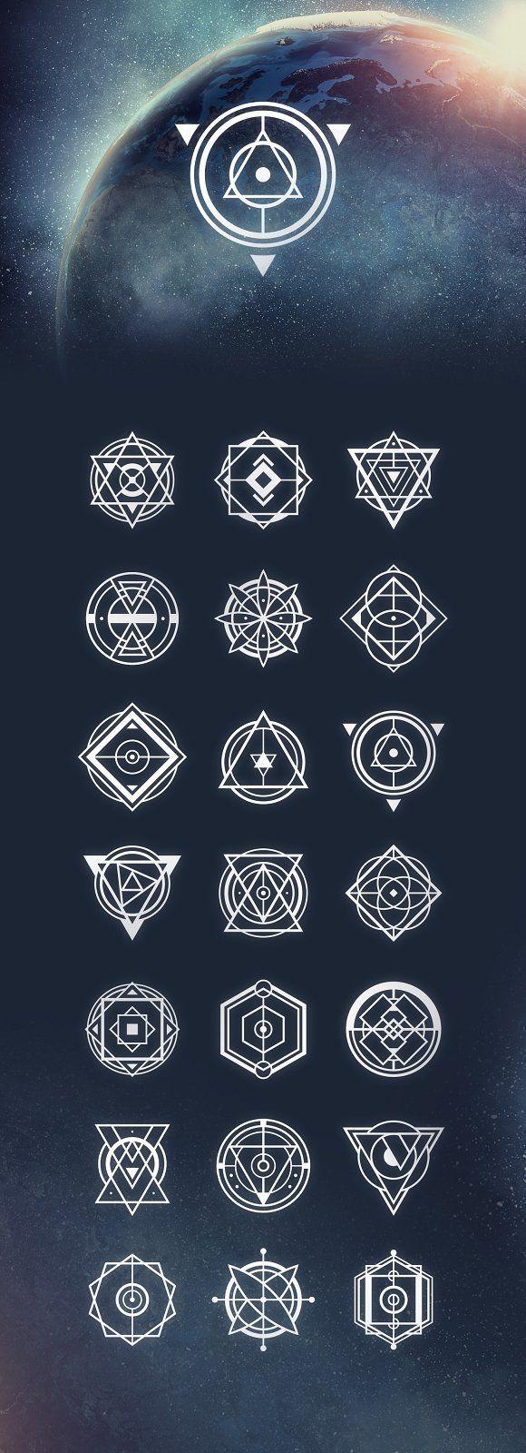 21 Sacred Geometry Vectors by Tugcu Design Co. on …