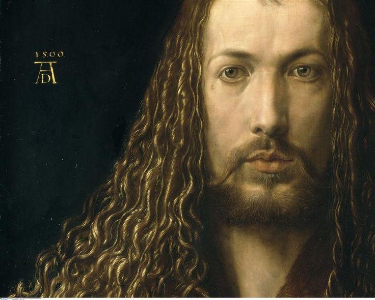 Albrecht Dürer - Autoportrait (detail), 1500