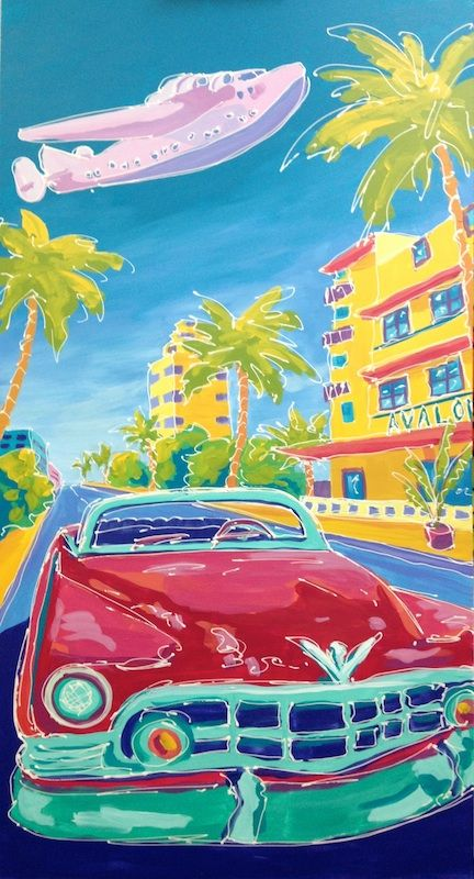 """'Miami Sea Duck"""" by Missy M Contemporary Art for Sale - ART101 Art Gallery & Framing"""