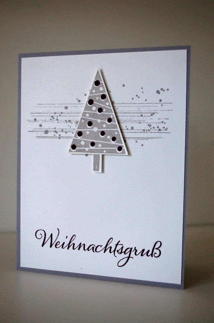 Stampin up Weihnachtskarte Gorgeous Grunge & Festival of Trees / Tree Punch Christbaumfest