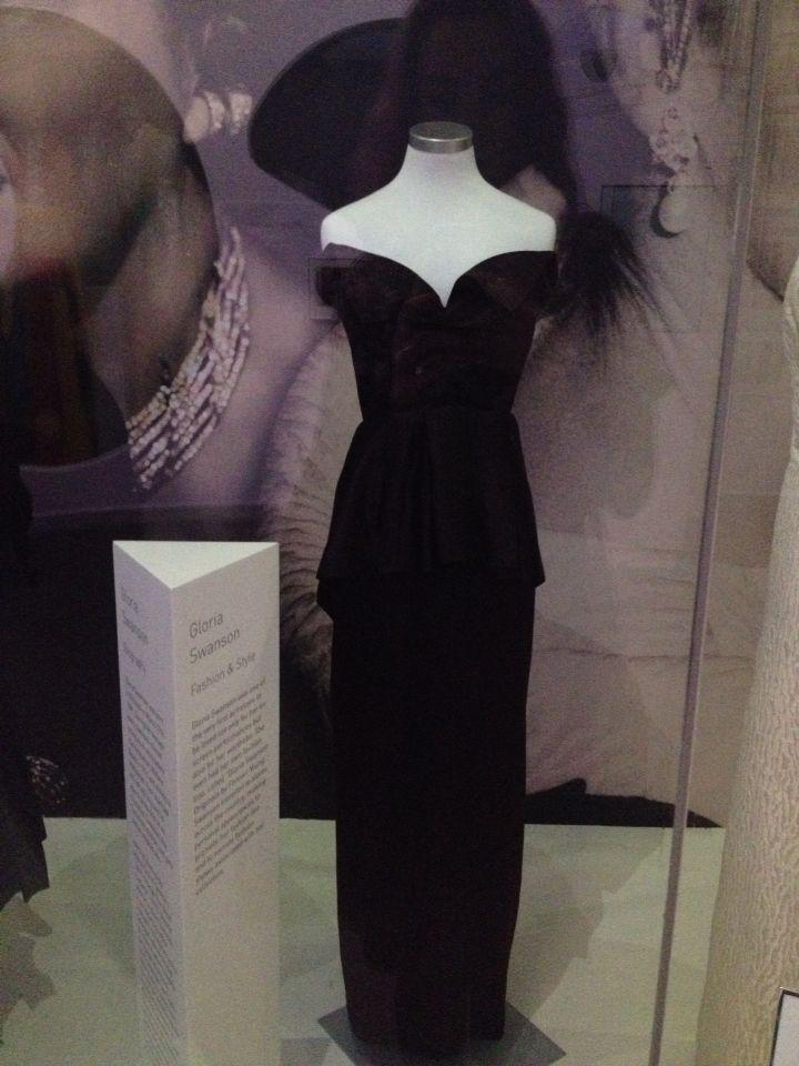 Gloria Swanson- black peplum style at Newbridge Silver, Kildare , Ireland
