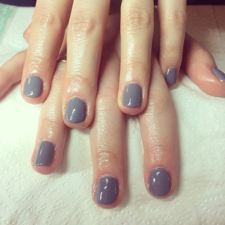 Nails effective nails grey Classic shellac nails