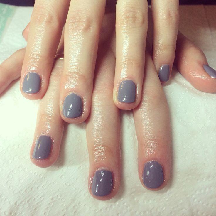Nails effective nails grey Classic shellac nails