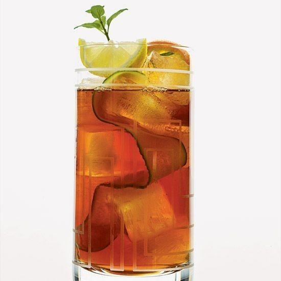 Pimm's Iced Tea | citrus + mint + cucumber + orange pekoe tea + lemon juice + Pimm's + agave