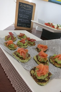 Zucchini Fritters with avocado and smoked Salmon  Mothers Day Brunch