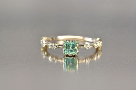 kataoka/jewelry and objets dart k18 gold paraiba tourmaline ring
