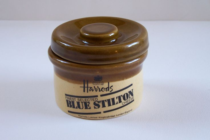 Petit pot en grès marron et beige Harrods Stilton Granville Church Gresley vintage Made in England de la boutique MyFrenchIdeedAntique sur…