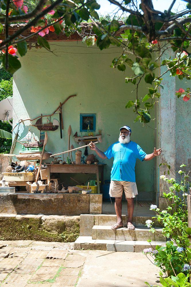 Den gamle fangen på Ilha Grande i Brasil.