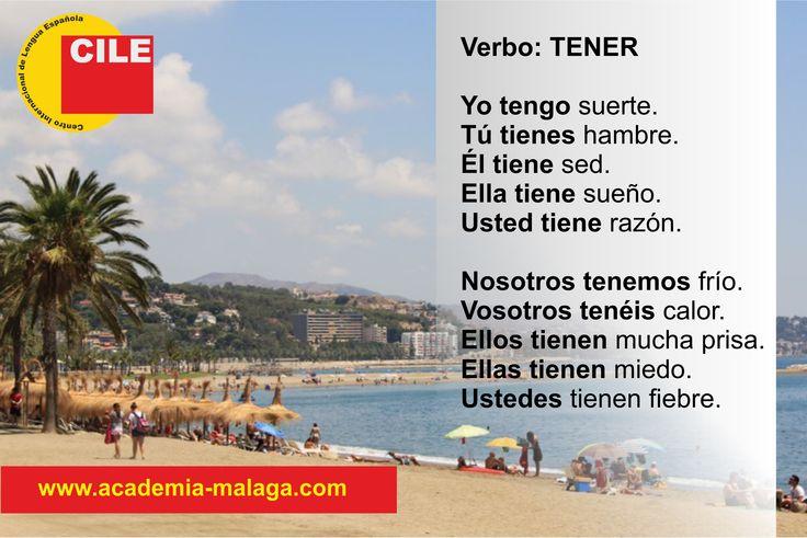 """La conjugación del verbo """"tener"""". The conjugation of the Spanish verb """"tener""""."""