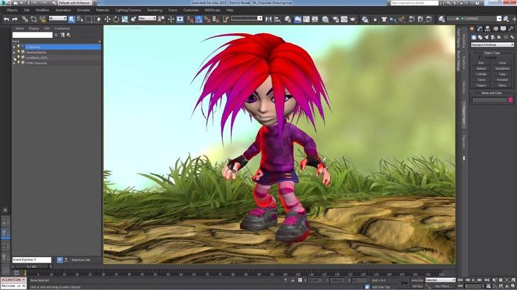 Making of Giana Sisters in 3ds Max