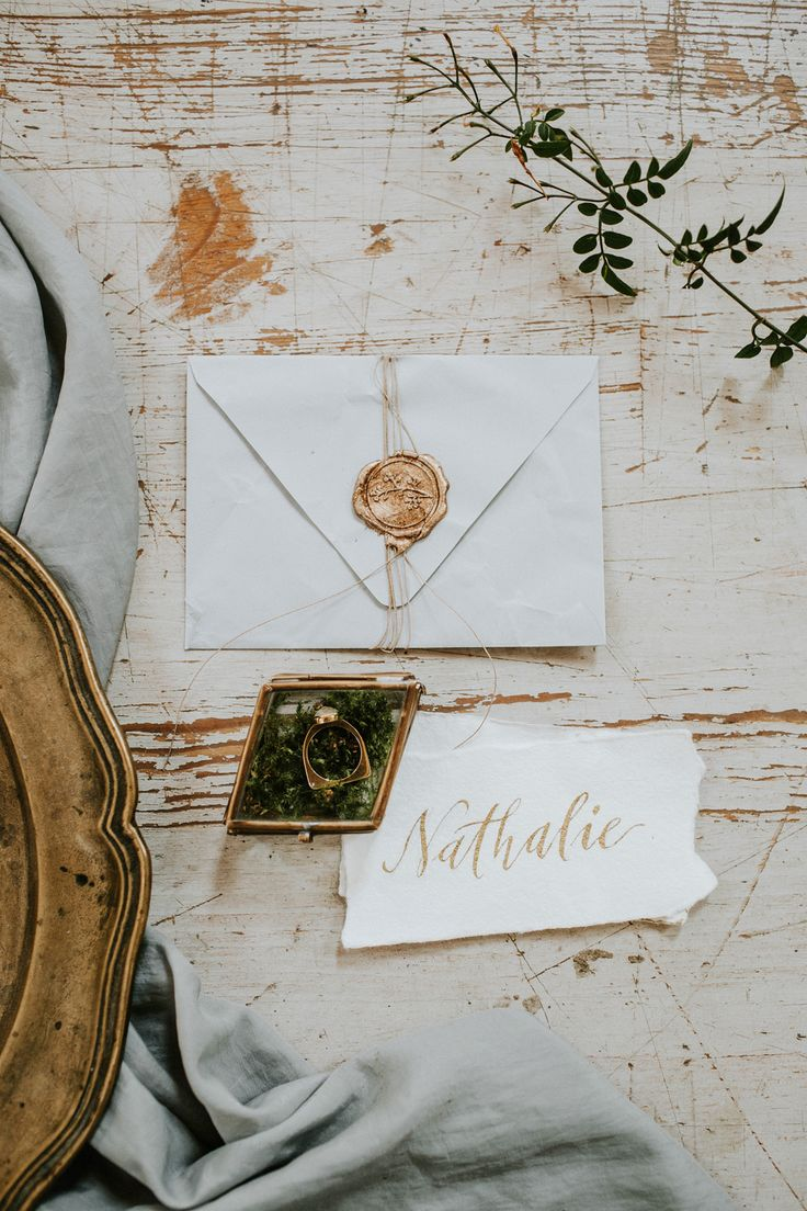 wedding stationery detail - http://ruffledblog.com/hungarian-chapel-elopement-editorial