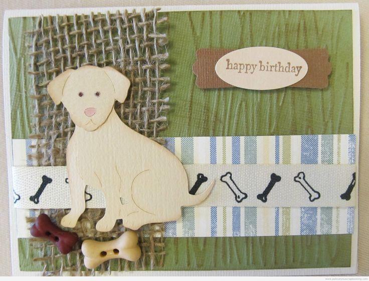Dog Card Using Animal Kingdom Cricut Cartridge - Labrador Retriever - www.psiloveyouscrapbooking.com