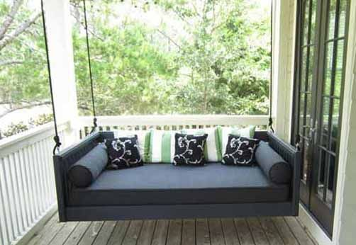 1000 ideas about outdoor swing beds on pinterest for Outdoor hanging bed swing