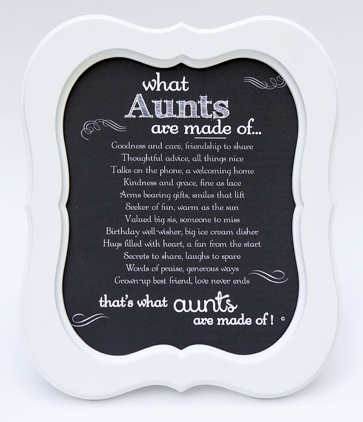 Aunt Frame: Aunt's Made of