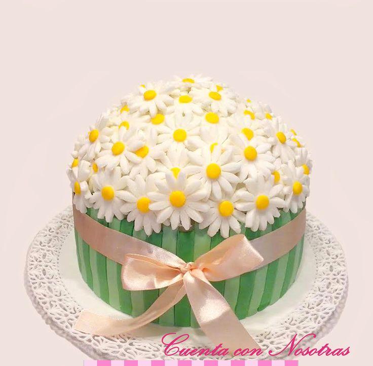 Torta margaritas Torta flores Torta mujer Flowers Cake Woman Cake