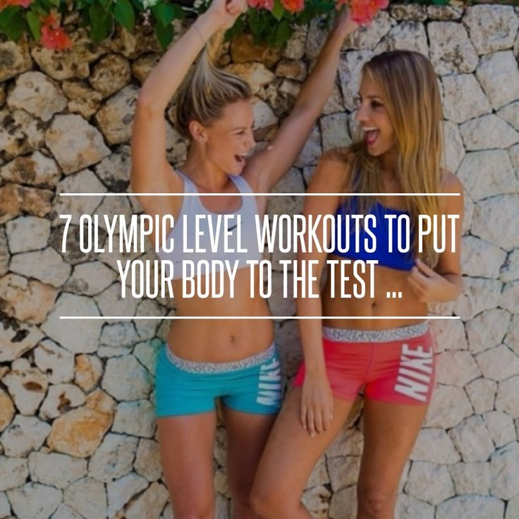 7 Olympic #Level Workouts to Put Your Body to the Test ... → #Fitness #Olympic