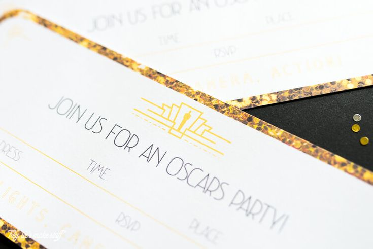 Printable Oscar Party Invitations - Hey, Let's Make Stuff