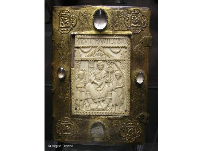 Late 13thc book cover   In Hessen State Museum, Darmstadt, Germany