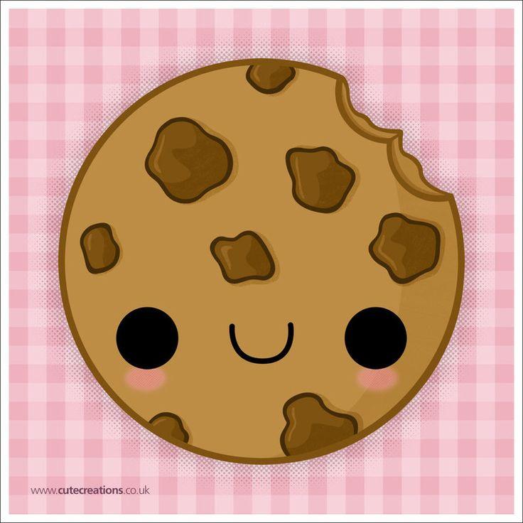 kawaii drawings cartoon cookie cookies face