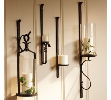 pottery barn wall mount candle holders
