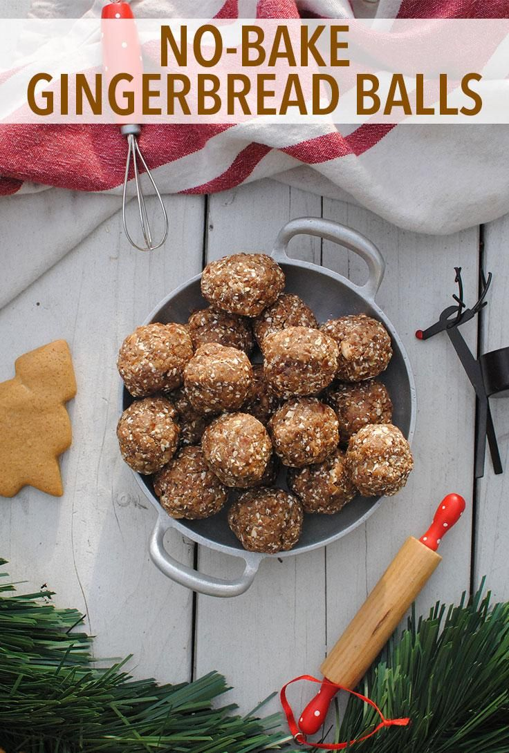 No-Bake Gingerbread Balls - These treats are a delicious way to enjoy the spiced flavor of gingerbread cookies without the guilt! // desserts // cheat clean // sweets // protein balls // holidays // healthy eating // snacks // baking // recipes // beachbody // beachbody blog