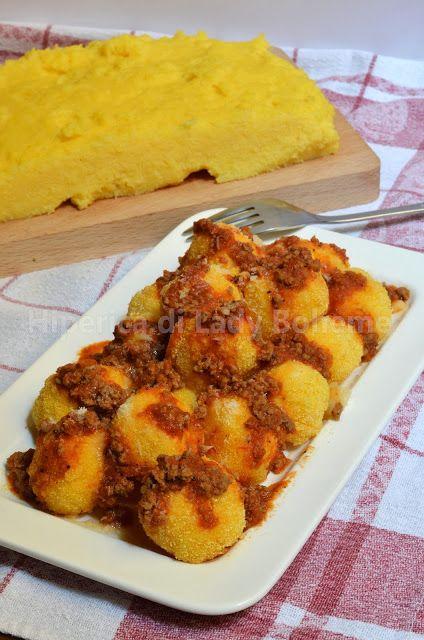 Polpette di polenta fritte
