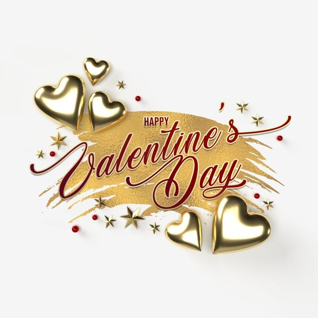Happy Valentines Day Greeting Card With Golden Hearts On A Transparent Background Object Lover Element Png Transparent Clipart Image And Psd File For Free Do Valentines Day Greetings Happy Valentines Day