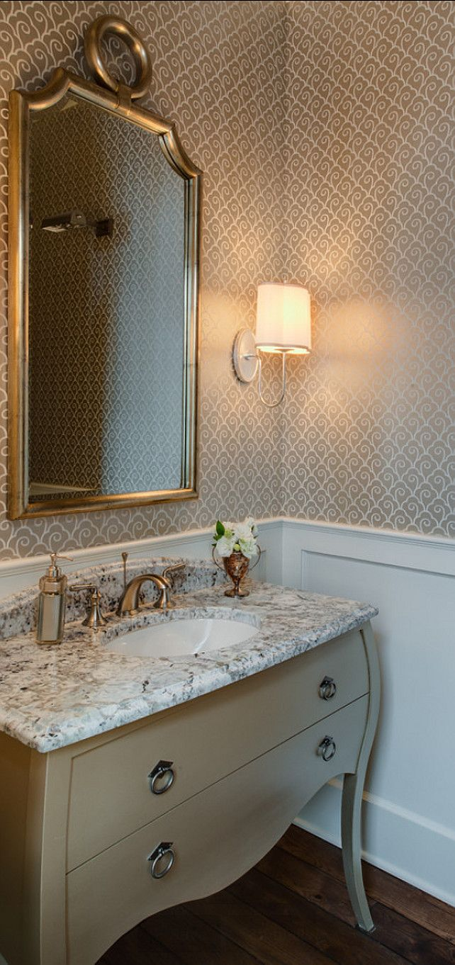 25 best ideas about powder room mirrors on pinterest for Powder room bathroom vanities