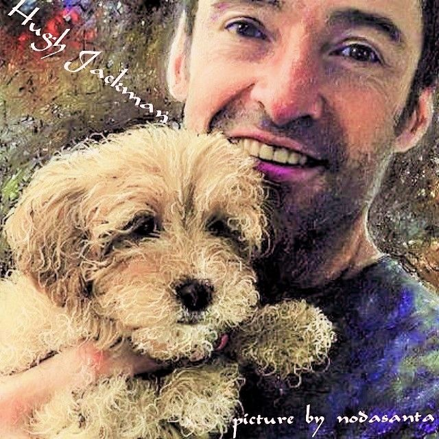 #Hugh Jackman #イラスト ヒュージャックマン(Hugh Jackman)の愛犬との2ショットをお絵描きしました。  Rumer - Come Saturday Morning http://youtu.be/z7KdD1lVHKU