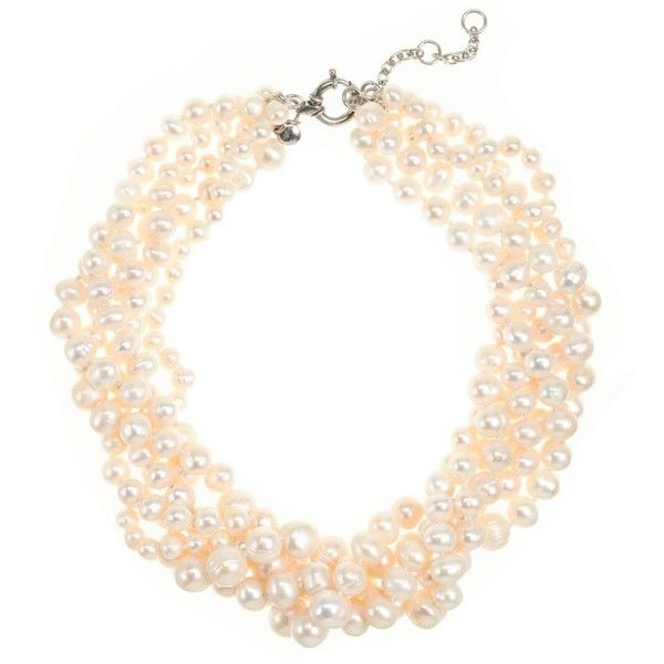 J.Crew Freshwater pearl hammock necklace found on Polyvore