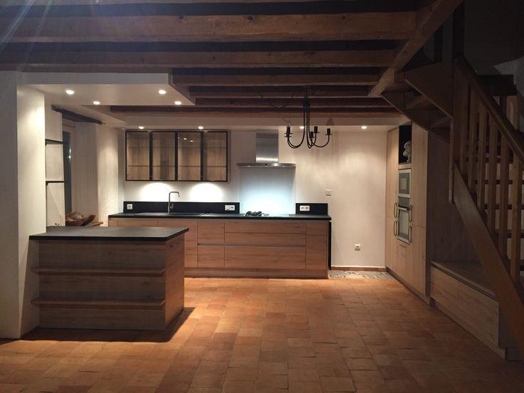 Agencement de cuisine dans longère bretonne Dernières realisations - agencement de cuisine ouverte