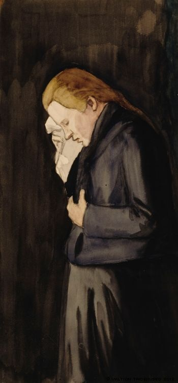 Sureva nainen, 1900-1903  by Juho Rissanen was one of the first Finnish painters,