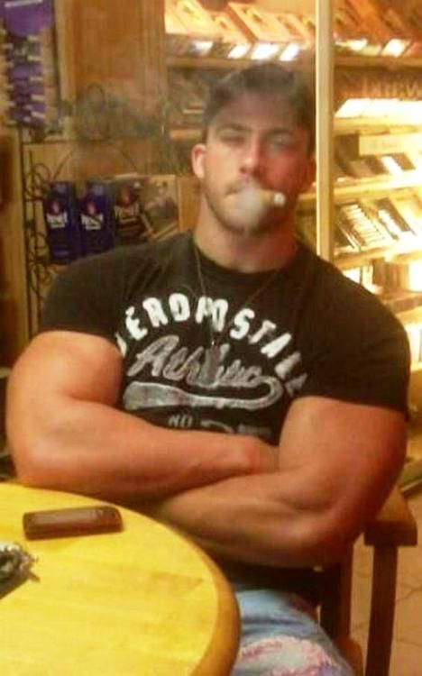 from Tristan pics of gay muscle men smoking cigars