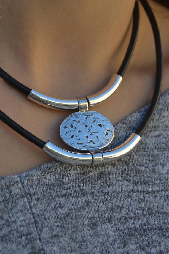 Bohemian double collar coat collar boho hippie necklace