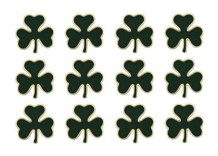 12 Irish Luck Shamrock 3/4 inch