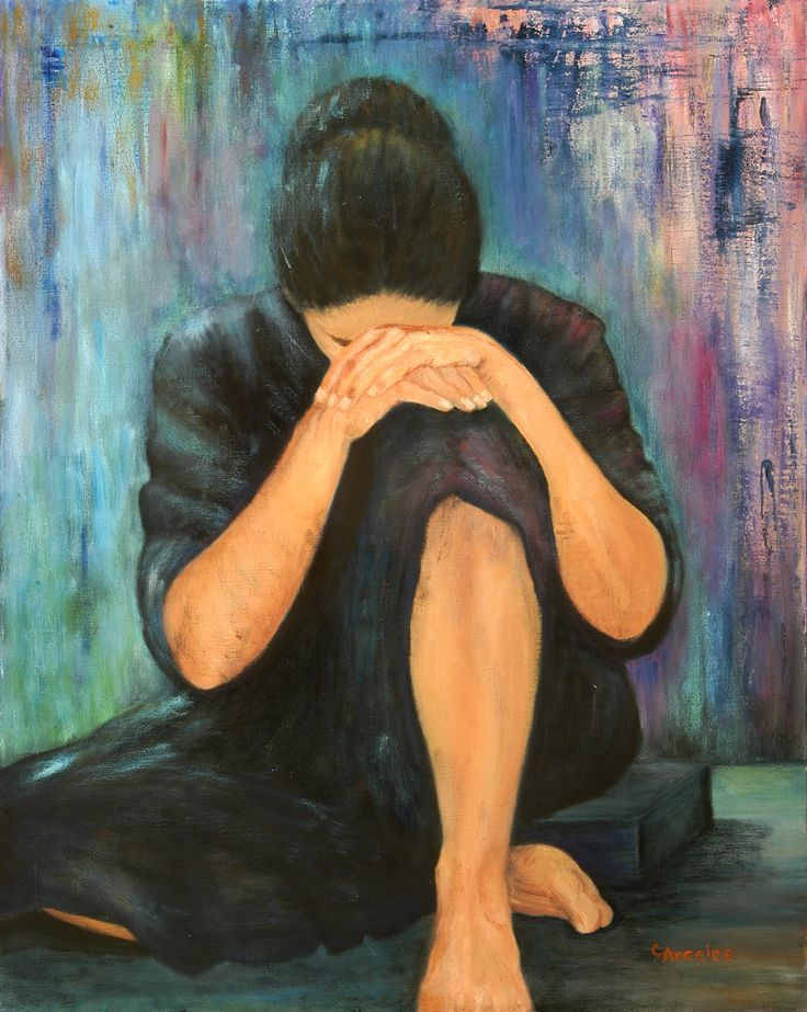Grief, painting by Cynthia Angeles
