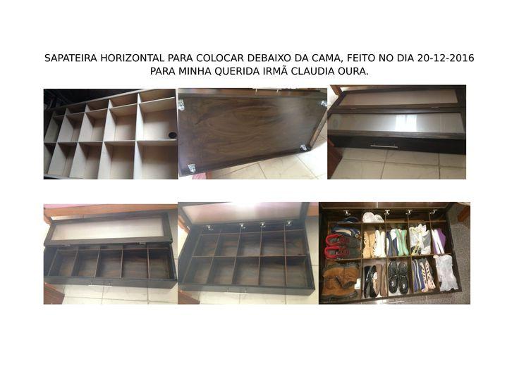 SAPATEIRA HORIZONTAL PARA COLOCAR DEBAIXO DA CAMA