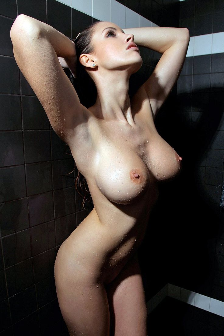 women shower breasts
