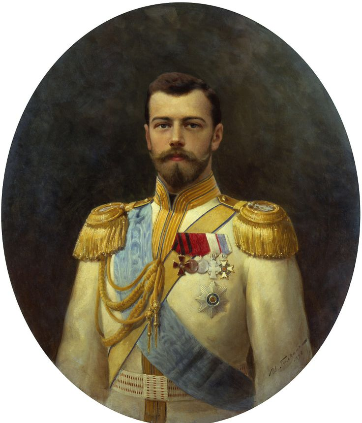 The portrait of future Nikolay II in his great gown, by Russian artist Ilya Galkin, 1895. Click to enlarge. What a face of a 27-year old Tsesarevich of the largest Empire!