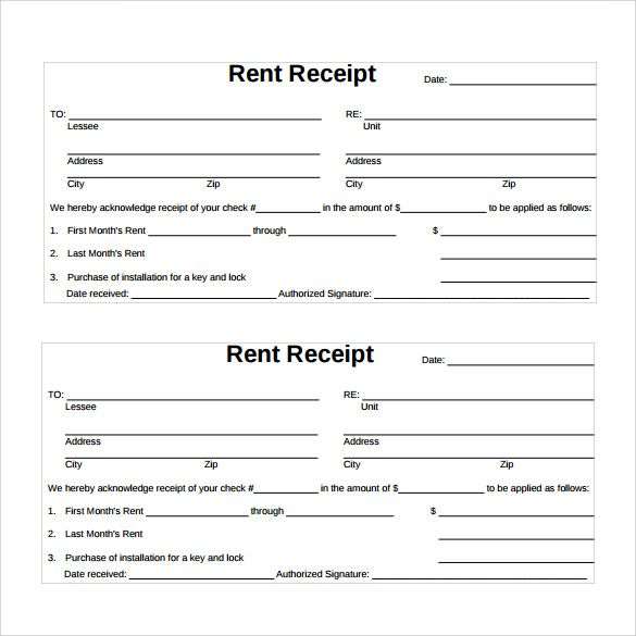 graphic about Free Printable Rent Receipt named Space Apartment Receipt Formats 11+ No cost Printable Phrase
