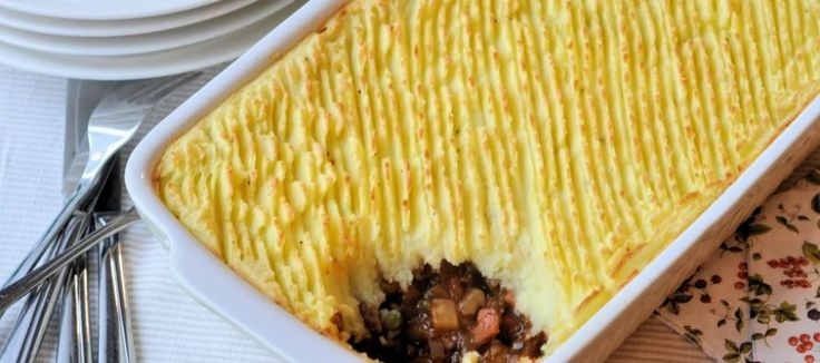 Cottage pie; Engels comford food