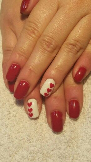 Heart nail art for Valentine's day or any day!!!!