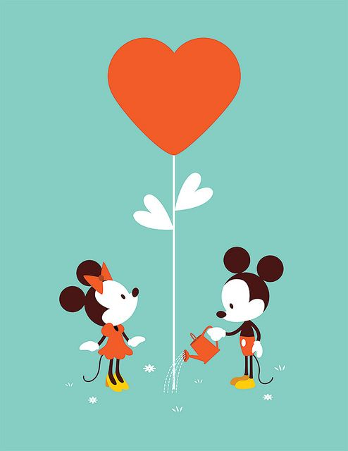 Mickey and Minnie.
